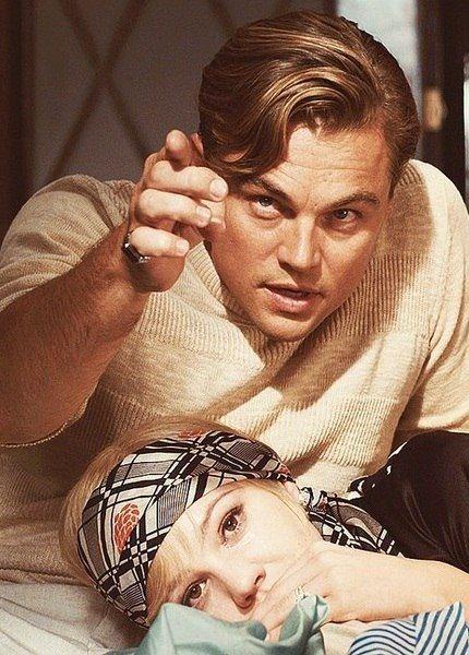 Great Gatsby Movie scene Leonardo Dicaprio and women he loved