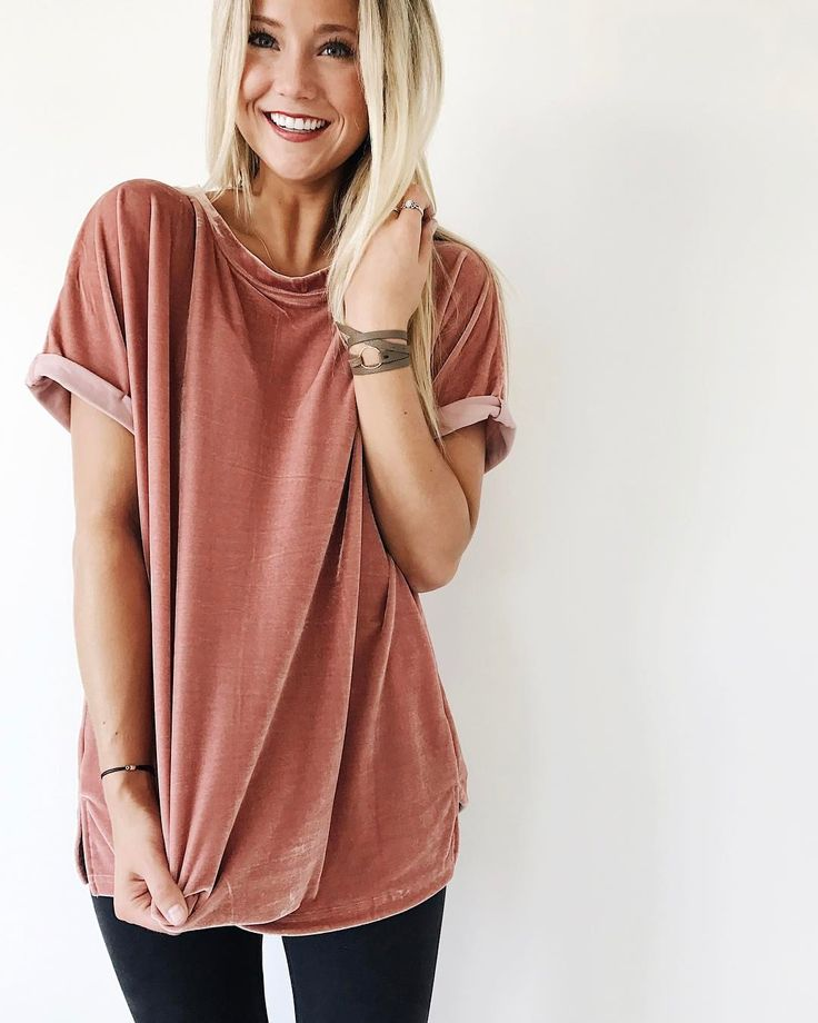 "4,534 Likes, 77 Comments - ROOLEE Boutique (@rooleeboutique) on Instagram: ""When you discover your favorite tee, every color is a must! The Daytime Dreamer Velvet Tee in…"""