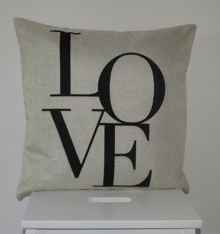 Cream Scatter Cushion Cover With LOVE Letters   Classically Simple Scatter  Cushion Cover With LOVE On