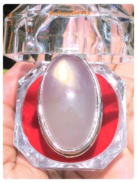 Produk menarik dari Bukalapak nih! Cincin Batu Permata Calchedony Opal Fire Grey Semu Putih   CN0015   Rhodium Ring Size 9