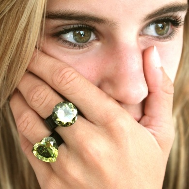 Hand made glass ring- Greens - #poshprezzi