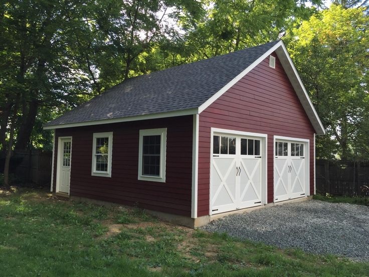 Amish Two Car Garage : Best ideas about amish garages on pinterest