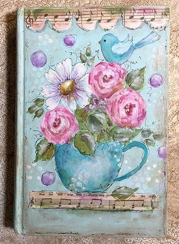 Mixed Media Journal Book Cover - Laurie May