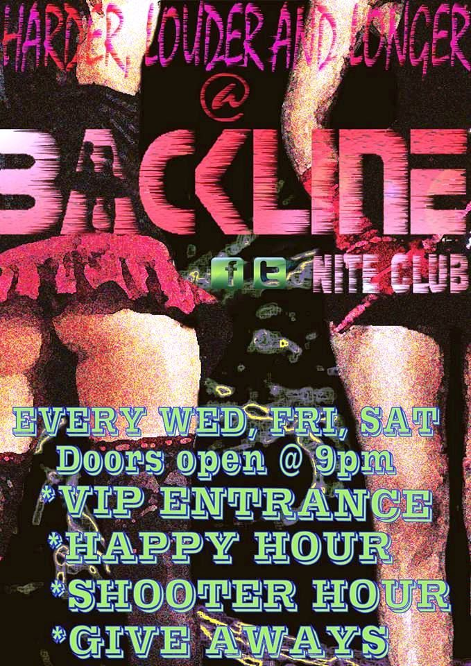 Party at Backline Night Club Margate, KZN every Wednesday, Friday and Saturday! Djs, drinks specials and the hottest folks in the coolest town!