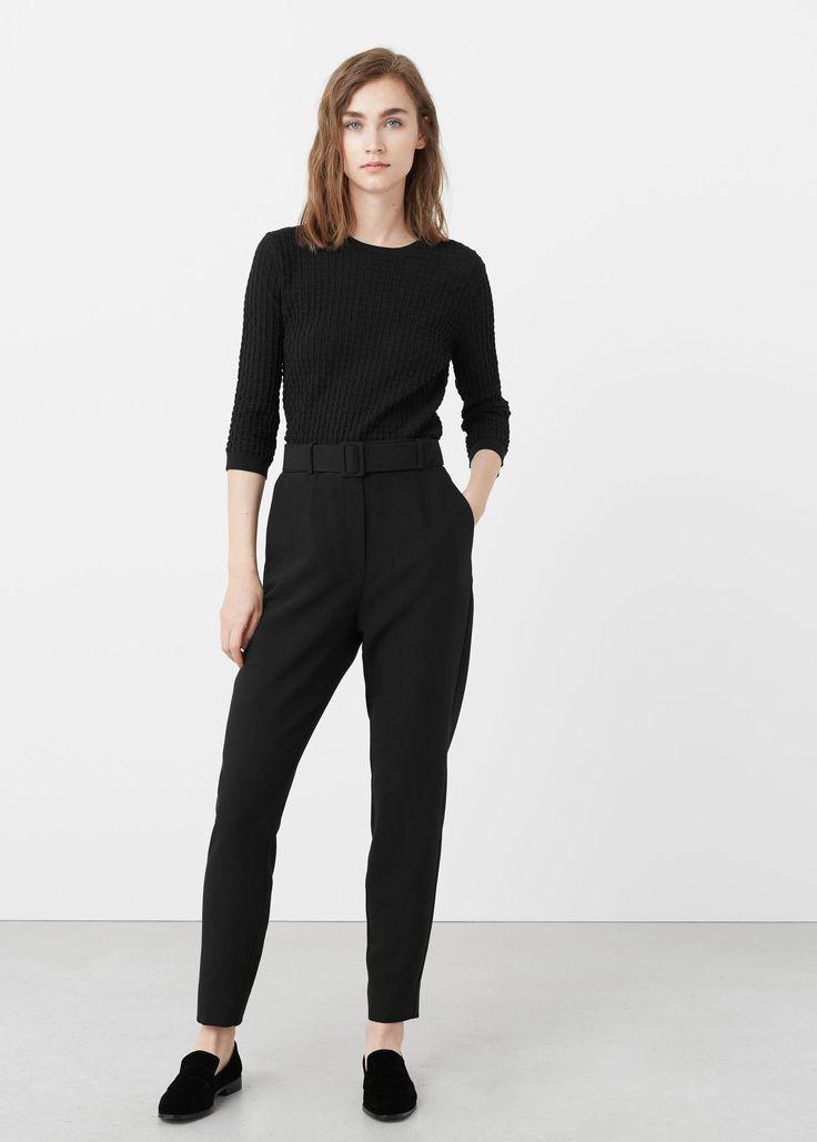 Detachable belt trousers – Woman