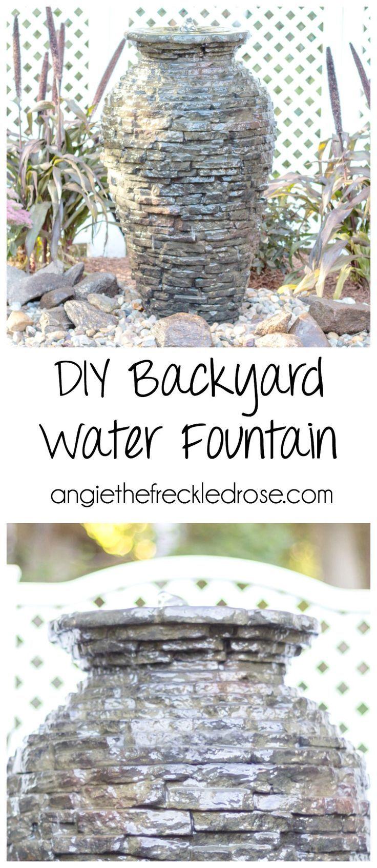 how to make a backyard water fountain