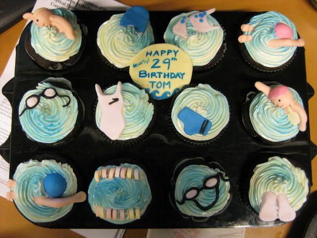 swimming cupcakes