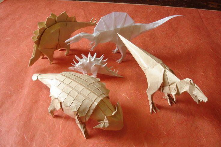 Origami Dinosaurs by origami-artist-galen.deviantart.com on @deviantART