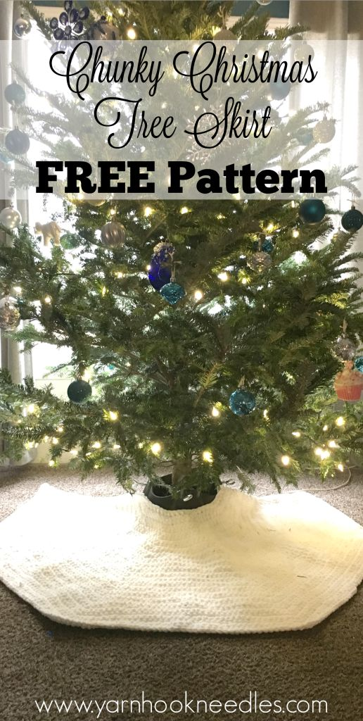 Chunky Crochet Christmas Tree Skirt With Free Pattern Yhn