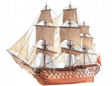 The Artesania Latina San Juan Nepomuceno wooden ship model measures 960mm long, 750mm high and 400mm wide. This wooden boat kit is highly realistic with many fine details.