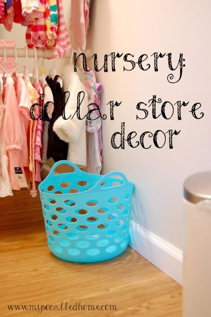 Dollar store decor and organization in our nursery