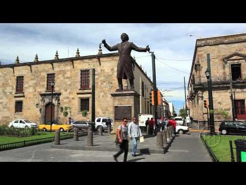 Statue of Miguel Hidalgo. Guadalajara, Mexico. ArmchairTourist.com video