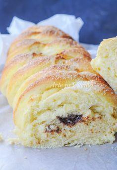 Treccia di pan brioche con cioccolato e noci vickyart arte in cucina