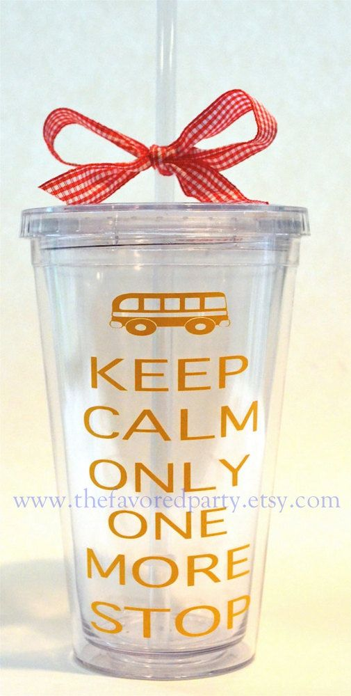 KEEP CALM Only One More Stop Bus Driver gift by TheFavoredParty
