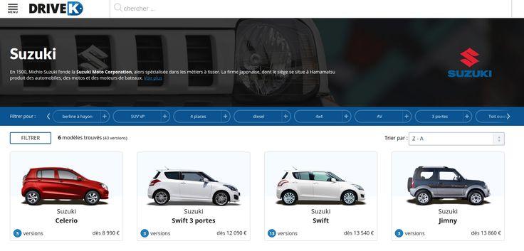 Configurez votre voiture préférée #Suzuki sur #DriveK. https://www.drivek.fr/suzuki/
