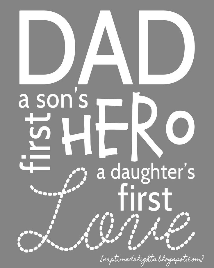 Dad Means... Free Father's Day Printable