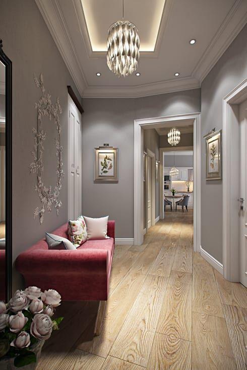 Квартира в стиле Прованс: Коридоры, прихожие, лестницы в . Автор – Дарья Баранович Дизайн Интерьера