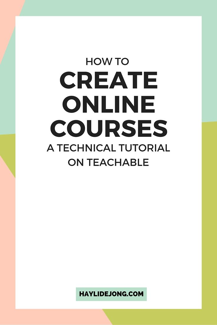 "One of the most common questions I get about my online courses is how I create them. I use the program ""teachable"" which allows you to have courses for sale, a blog and do so much for your online business. Click through to find out exactly how to set up your first online product with this teachable video tutorial."