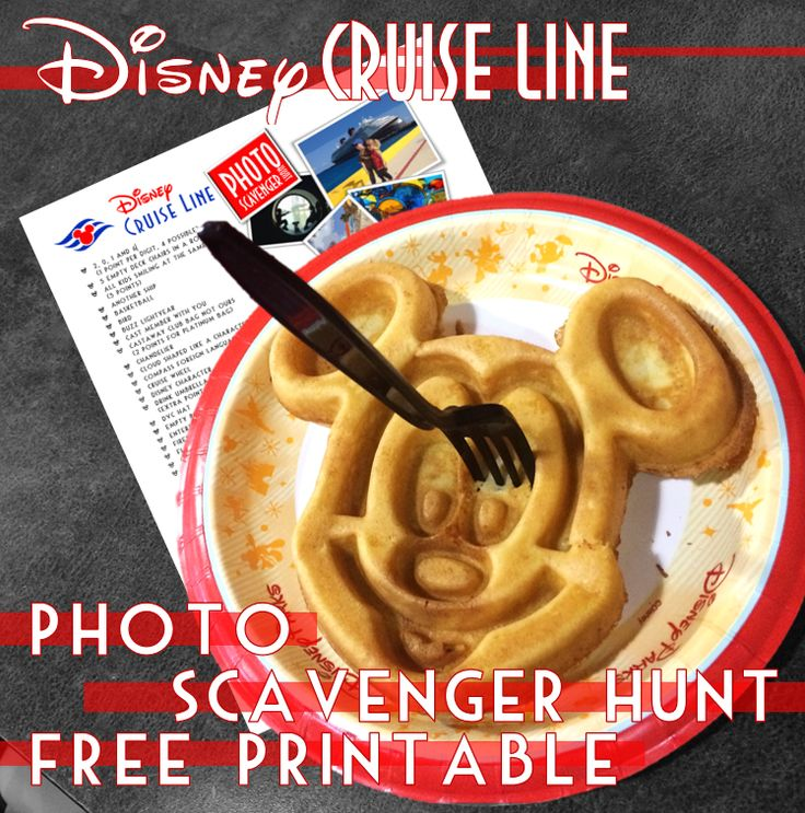 Disney Cruise Line Photo Scavenger Hunt Free Printable