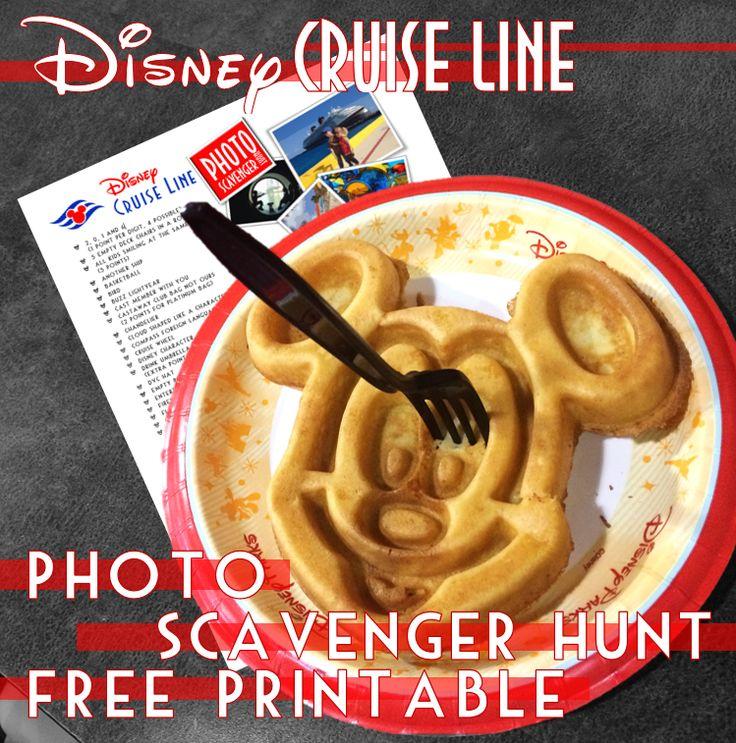 Disney Cruise Line Photo Scavenger Hunt Free Printable