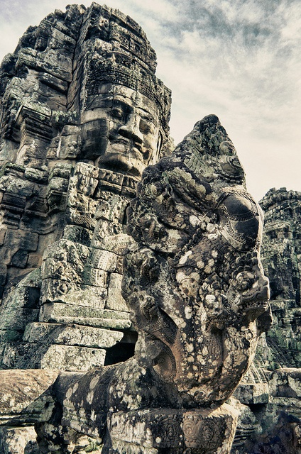 Past faces glaring in eternity- Angkor, Cambodia