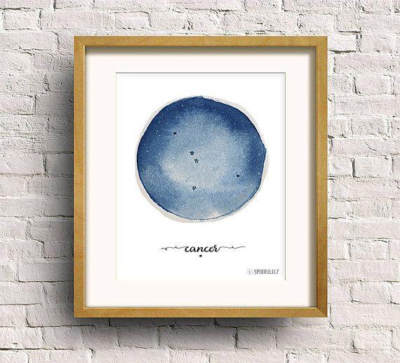 Cancer Constellation Zodiac Nursery Constellation by SpoonLily