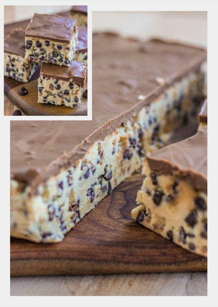 No Bake Cookie Dough Bars - 1/2 c. unsalted butter, softened. 3/4 c. brown sugar. 1 tsp. vanilla extract. 2 c. all purpose flour. 1 (14 oz.) can sweetened condensed milk. 2 c. chocolate chips. TOPPING: 1/2 cup creamy peanut butter  1/2 cup milk chocolate chips melted. Put 'dough in 8X* lined pan. Refrigerate 3 hours. Spread topping over. Chill another hour..