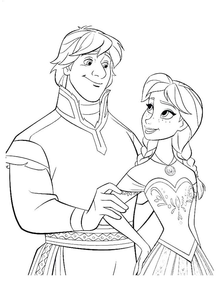 frozen coloring pages young anna. Who doesn't know the ...