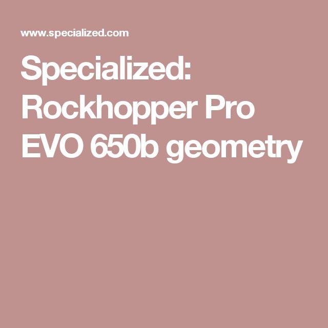 Specialized: Rockhopper Pro EVO 650b geometry