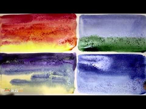 DrawFox. Акварельная живопись для начинающих. 2-1. Использование соли в акварели. - YouTube