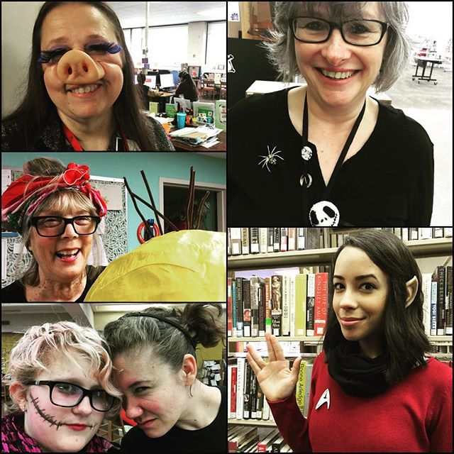 Librarians are creepy! #libraries #librarians #halloween2015