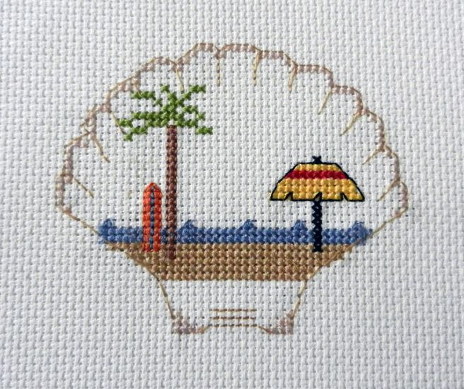 Find Camping Cross Stitch Patterns at Camp Cross Stitch! Beach scenes, campers, trailers, 5th wheel, Airstream, Mt. Rushmore and more!!
