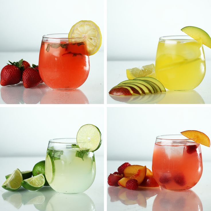 Spiked Lemonade 4 Ways