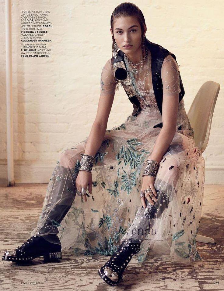 Vogue Russia April 2017 Grace Elizabeth by Paola Kudacki