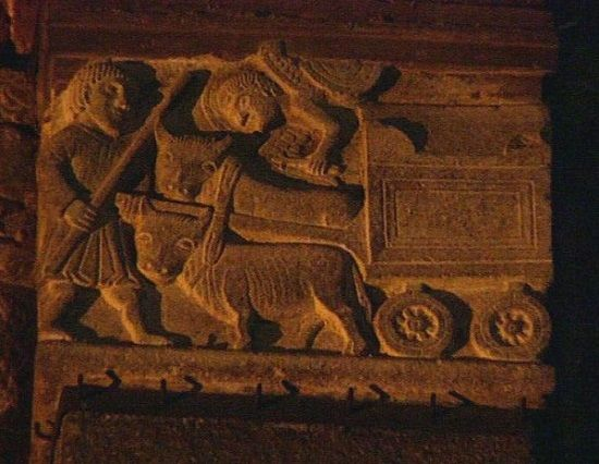 Haute relief of the transport of the mortal remains of the Magi, Basilica of Sant-Eustorgio - blog at medmeanderings.com