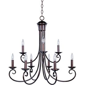 Pyramid Creations Loft 9 Light Oil Rubbed Bronze Chandelier Lowes 32000
