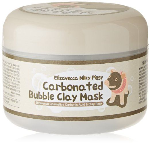 Elizavecca milky piggy carbonated bubble clay mask is a bubble mud pack that provides pore cleaning and black head removal, The carbonated bubbles gently massage the pores, After paste mask to your skin for 5 minutes, bubbles are generated, add some water to skin and massages two more minutes, effect of cleansing is maximized