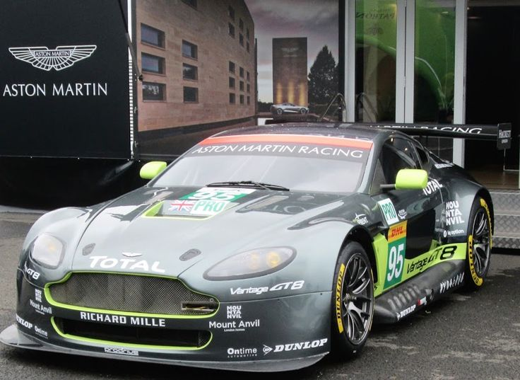 Aston Martin Vantage on display at WEC Silverstone 15 Apr 2016
