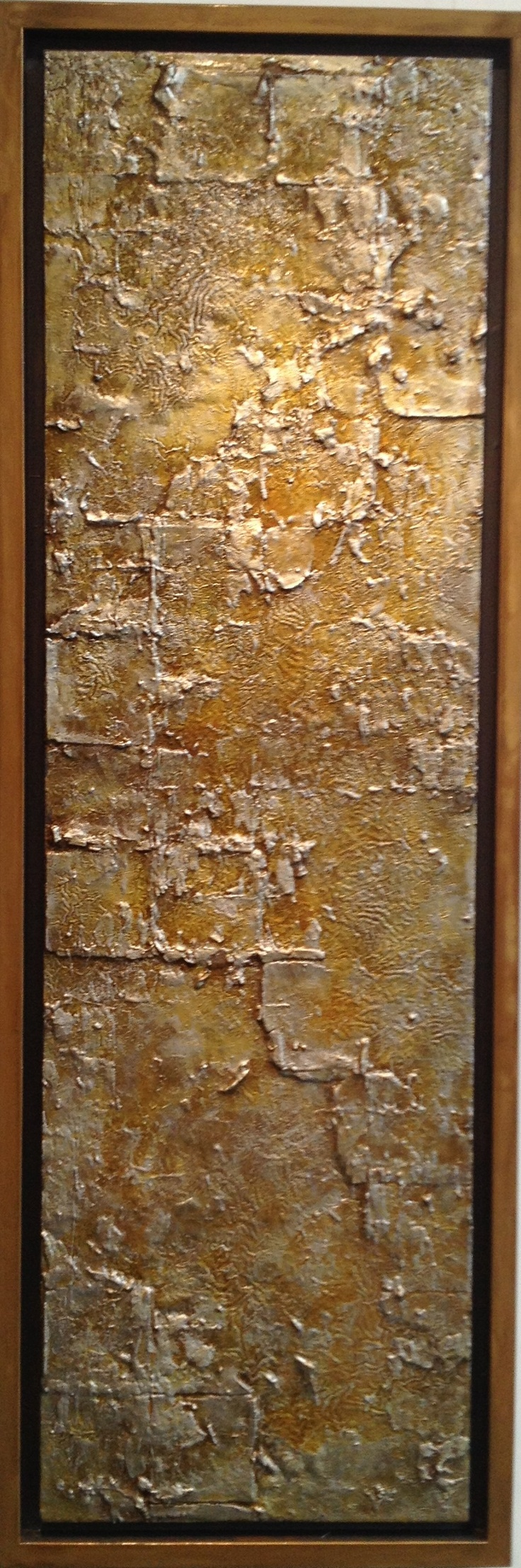 GREAT TEXTURE ON WOOD PANEL (PLYWOOD)  Mishin Fine Arts SF  Mixed Media on Wood Panel