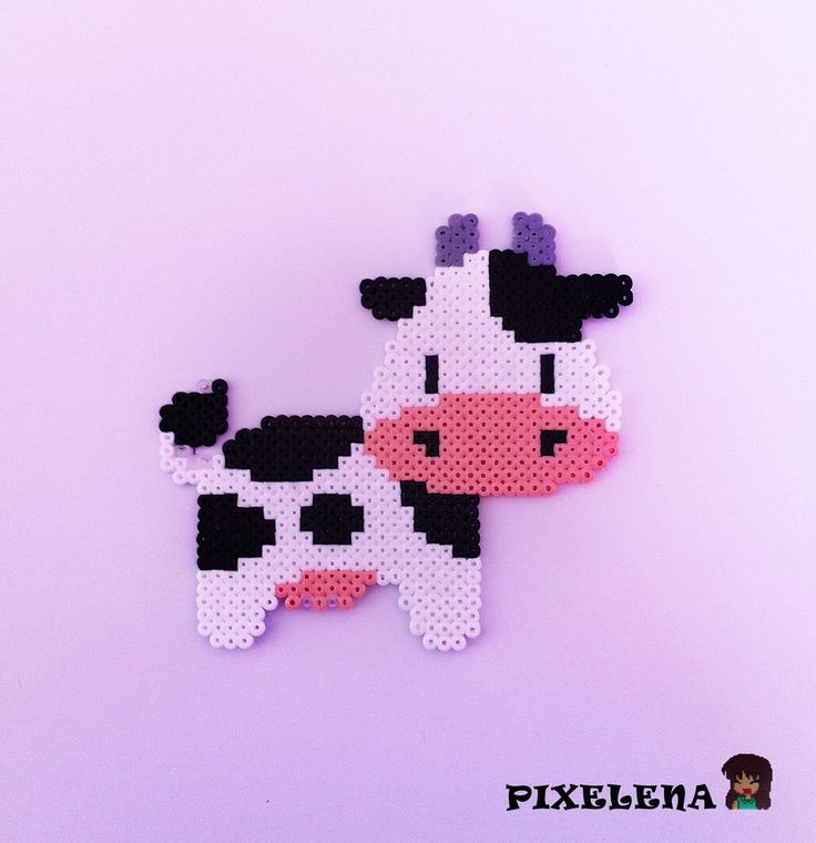 Cow perler beads by PixelenaMV on deviantART                                                                                                                                                                                 Mehr