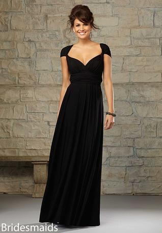 Mori Lee - Cap Sleeve Bridesmaid Dress - Available at Party Dress Express - 657 Quarry Street - Fall River - MA 02721 http://www.partydressexpress.com/detail.php?ProdId=9754515&CatId=75562&resPos=8#subtitle