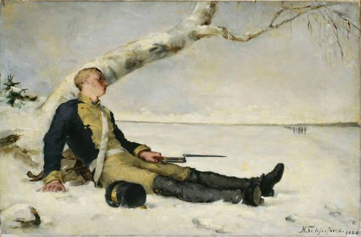 The Athenaeum - The wounded warrior in the snow (Helene Schjerfbeck - )