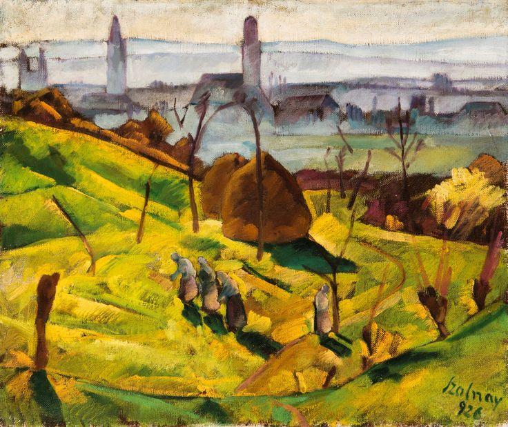 Szolnay Sándor: Nagybányai részlet, 1926. © magántulajdon