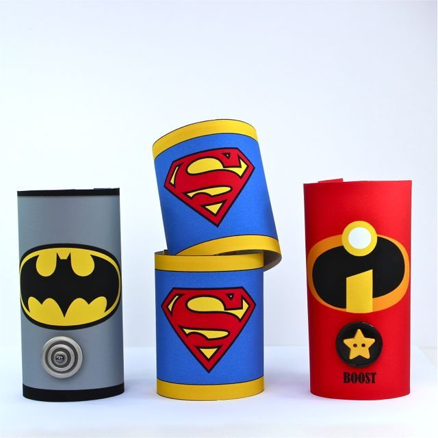 Knutselen met je kleine superheld. DIY Toilet Roll Superhero Cuffs - Includes tutorial and free printables