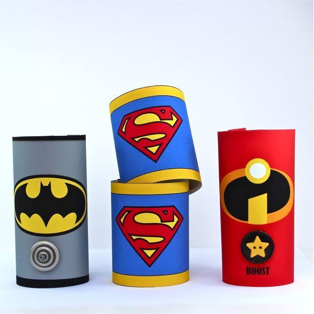 Knutselen met je kleine superheld. DIY Toilet Roll Superhero Cuffs - Includes tutorial and free printables