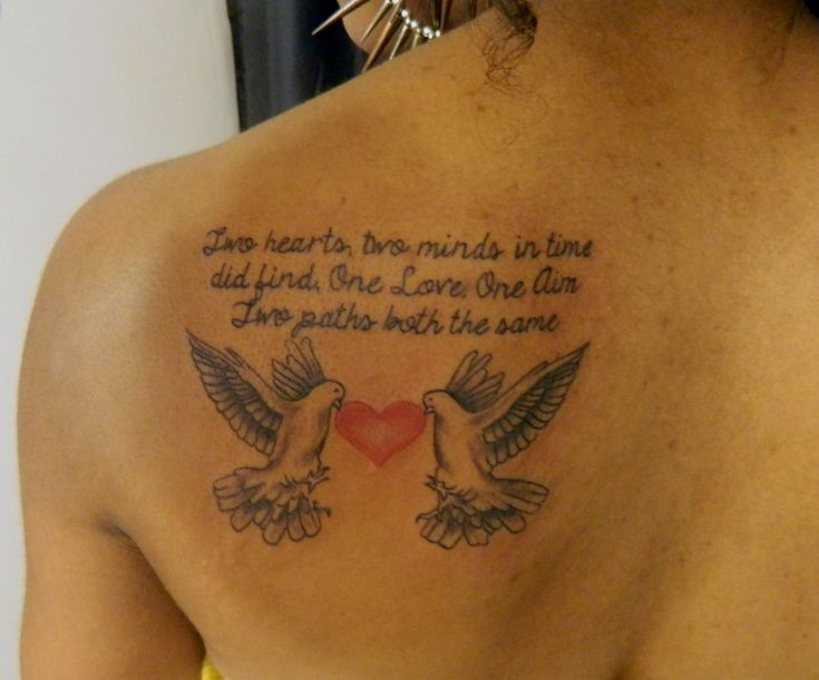 Dove Tattoos With Sayings