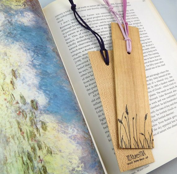 Bookmark Wood Bookmark Wood Bridal Shower Favor Wood by texturemix, $6.50