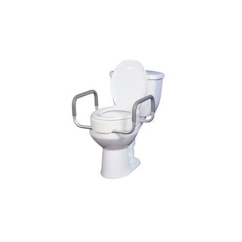 Toilet Seat Riser Removable Arms Disabled Elderly Hospice