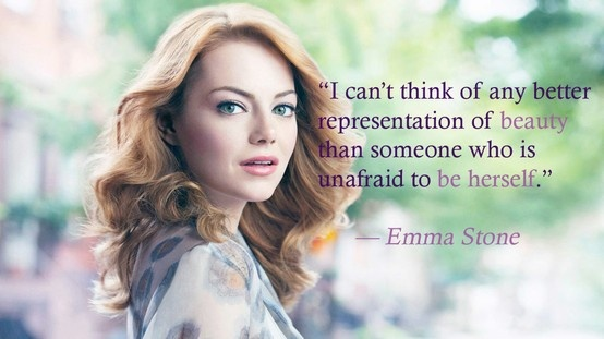 True beauty. Love Emma stone! Smart funny and beautiful triple threat!