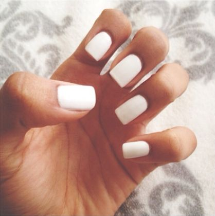 White Square Nails Tumblr | www.pixshark.com - Images ...